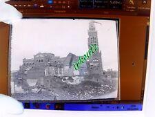 rare  PLAQUE PHOTO Négative basilique Notre-Dame de Brebières WWI Albert