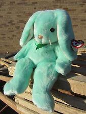 "TY Beanie Buddy - HIPPITY Bunny  14"" long, 9"" sitting - Tags 1998 pastel green"