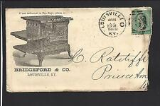 LOUISVILLE,KENTUCKY COVER, 1889, BRIDGEFORD & CO. STOVES