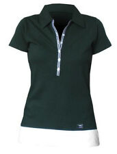 Aston Martin LADIES Polo Shirt Green 5 Button BNWT  RRP £40 Sz 10 / 12 Medium