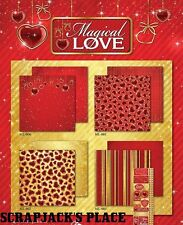"REMINICSE ""MAGICAL LOVE"" 12X12 PAPER PACK VALENTINES DAY LOVE  SCRAPJACK'S PLACE"