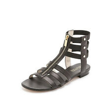 Auth MICHAEL KORS Codie Black Leather Strappy Gladiator Sandals Flats NIB Sz 7
