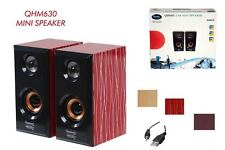 Quantum QHMPL QHM630 Portable Wooden USB 2.0 Powered Speaker  for PC Mobile Tab