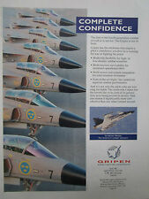 10/1996 PUB SAAB BRITISH AEROSPACE JAS 39 GRIPEN ROYAL SWEDISH AIR FORCE AD