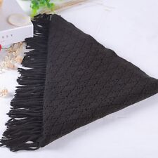 Women's Hollow out Wool Knitted Soft handfeel Scarf Triangle Shawl winter warm