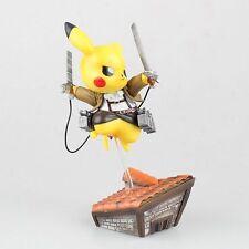 """6"""" Pokemon Go cosplay Pikachu Attack on Titan Anime figure toy xmas gift #M"""