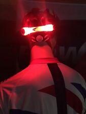 SUPER luminosi LED Luce per bicicletta Casco Rosso UK Fornitore
