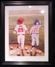 "MARK MCGWIRE & SAMMY SOSA ""HOME RUN BUDDIES"" 8 X 10 PRINT BY T RICHARD - FRAMED"