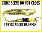 CRIME SCENE NECK STRAP LANYARD FOR PHONES I.D TAGS MP3