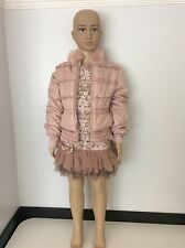 Kate Mack Girls Outfit, Set, Dress & Coat Size Age 6, Pink, Vgc