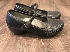 DANSKO Leather Mary Jane Closed Toe Clog Sandals Shoes Size 39
