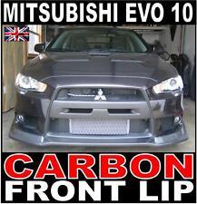Mitsubishi Evo EVOLUTION 10 V Style Carbon Front Lip Spoiler Splitter Evo X