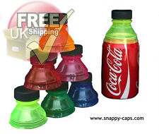 6 X Can Cap Snappy Cap Snap Bottle Top Covers Drink Lid ALL DIFFERENT COLOURS