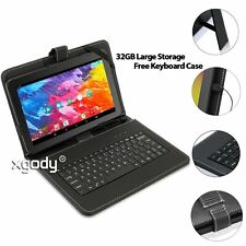 "32GB 10.1"" Inch HD A33 Quad Core WIFI Android 5.1 Tablet PC Bundle Keyboard Case"