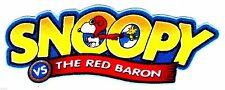 """4.5"""" SNOOPY THE RED BARON AIRPLANE PLANE LOGO CHARACTER  FABRIC APPLIQUE IRON ON"""