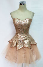 MASQUERADE Champagne Homecoming Party Dress 7 -$120 NWT