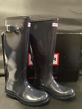 NIB Hunter Women's Original Gloss Tall Rain Boot 4M 5F Navy W23616