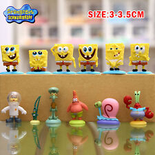 12pcs Set SpongeBob Squarepants Patrick Star Squidward Tentacles PVC Figure