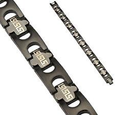 1 Pc Tribal Black Titanium Anodized 316L Link Bracelet