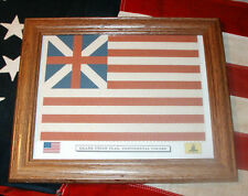 Framed Revolutionary War Flag,  Grand Union flag