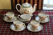 10 piece Alfred Meakin 'Hereford' part tea set. Teapot, jug, 4x cup & saucers