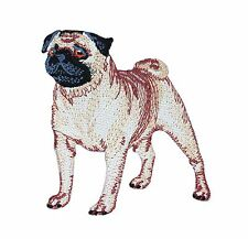 Fawn Pet Pug Puppy Patch Dog Lover Cute Canine Animal Craft Iron-On Applique