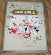 NINE MUSES 9Muses Drama 3RD MINI ALBUM K-POP REAL SIGNED AUTOGRAPHED PROMO CD