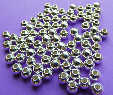 4.0mm 925 Sterling Silver Round Seamless Spacer Beads 12pcs.