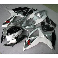 Silver INJECTION ABS Plastic Fairing For SUZUKI GSXR 600 750 GSXR600 750 06-07