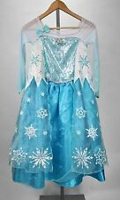 Disney Princess Elsa Frozen Winter Halloween Costume for Kids Girls Size 9/10
