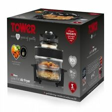 Tower AirWave Low Fat Air Fryer 1300W 17 Litre T14001 Multi Food Halogen Cooker