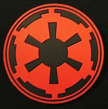 3D IMPERIAL GALACTIC EMPIRE STAR WARS LOGO ARMY RED OPS VELCRO® BRAND PATCH