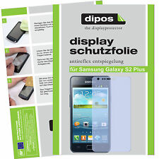 2x Samsung Galaxy S2 Plus Schutzfolie matt Displayschutz Folie Antireflex