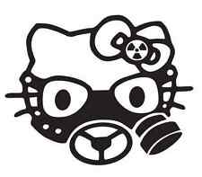 Hello kitty gas mask car vinyl sticker decal JDM window ford vauxhall vw dub uk