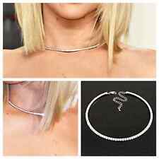 "One row CZ ""Rhinestone Crystal Choker"" Collar Necklace,2016 necklace trend"
