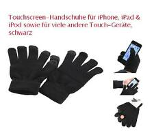 Touchscreen-Handschuhe für iPhone iPad Touch-Geräte, schwarz