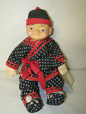RARE BUDDHA KID BOY DOLL BY CHAU YEUNG HONG KONG 1988