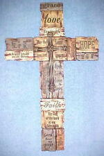 Crosses Wall Hanging Faith Hope Love Amazing Grace Trust in the Lord Christian
