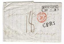 Marque Postale Bremen / Bordeaux 1842 ( 186  )