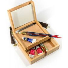 "Artists Wooden Pochade Box takes 8""x6"" painting boards"
