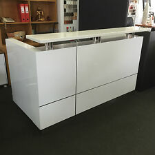Reception Counter High Gloss White Reception Desk Counter Office Desks Furniture