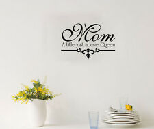 Mom A Title Just Above Queen Quote Wall Art Sticker Family Wall Decal Home Decor