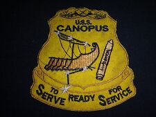 "US Navy Patch USS CANOPUS AS-34 ""To Serve Ready For Service"""