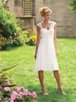 New White/Ivory sweetheart Short wedding dress bridal gown stock size 6-16