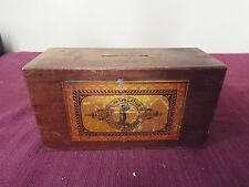 Wooden Missionary Collection Box. 19th Century - Missionary Bank