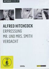 DVD-BOX NEU/OVP - Alfred Hitchcock - Erpressung / Mr. und Mrs. Smith / Verdacht