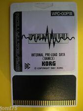 KORG Vintage 1991 RARE WAVESTATION Internal PRE-LOAD DATA BANK 3 WPC-OOP3 00PIII
