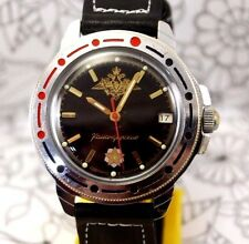 Soviet mechanical watch VOSTOK Russian Military Masonic eagle Komandirskie USSR