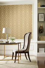 Elegant Gold Tone Large Damask Wallpaper Double Roll Bolts FREE SHIPPING
