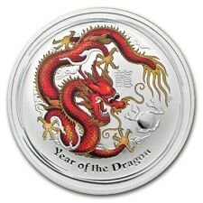 2012 1 oz Silver Australian RED Dragon Lunar Coin Direct From Mint Roll